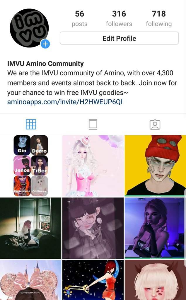 Imvu Amino Instagram | IMVU Amino
