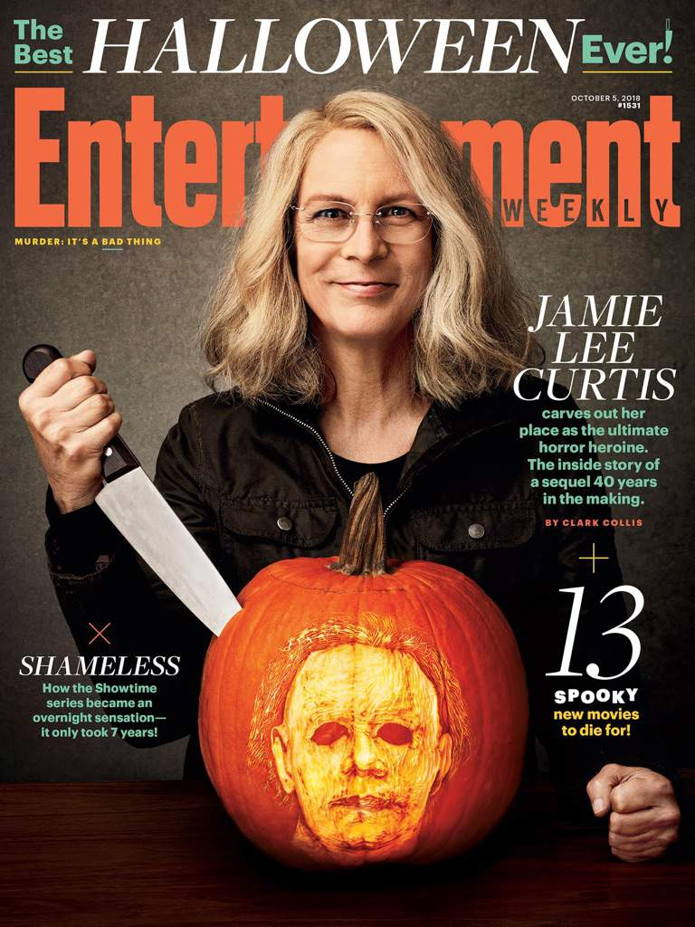 jamie lee curtis 'halloween' magazine cover | horror amino
