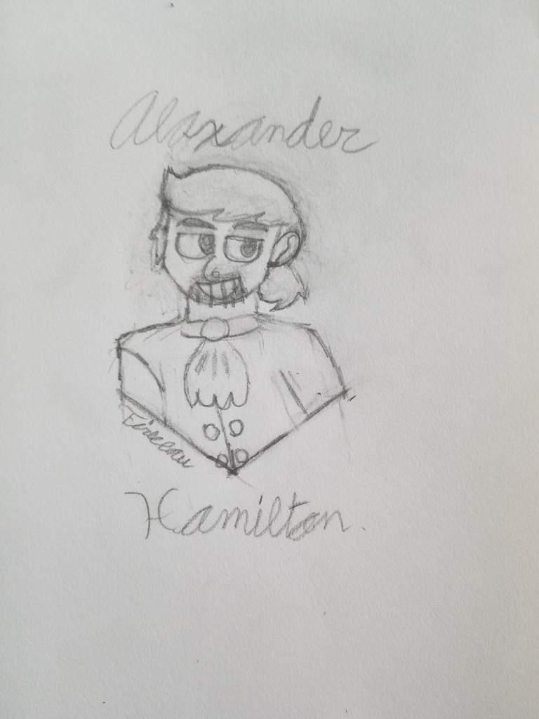 My Failed Attempt To Draw Alexander Hamilton Hamilton Amino