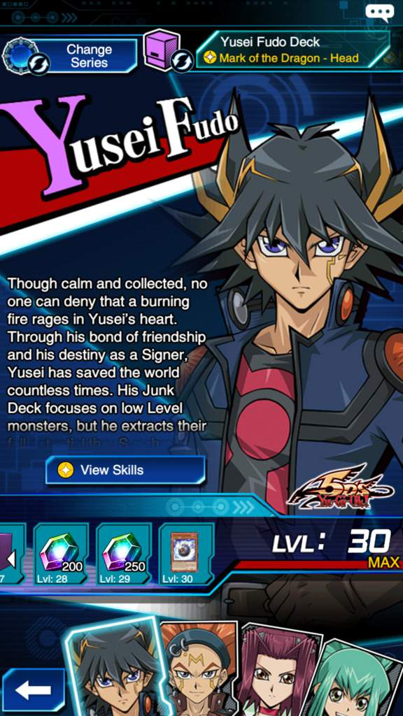 Finally got Yusei at max level!! | Yu-Gi-Oh! Duel Links! Amino