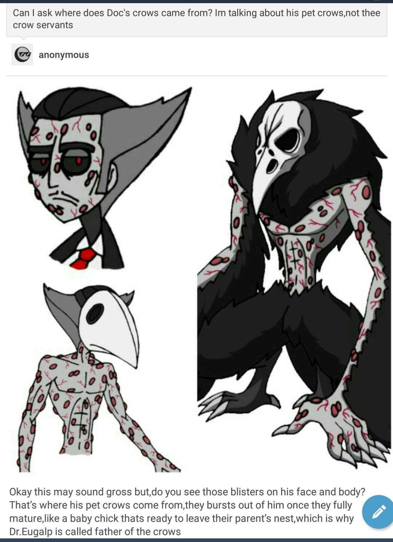 HHOC: Where does Doc's pet crows came from?   Hazbin Hotel