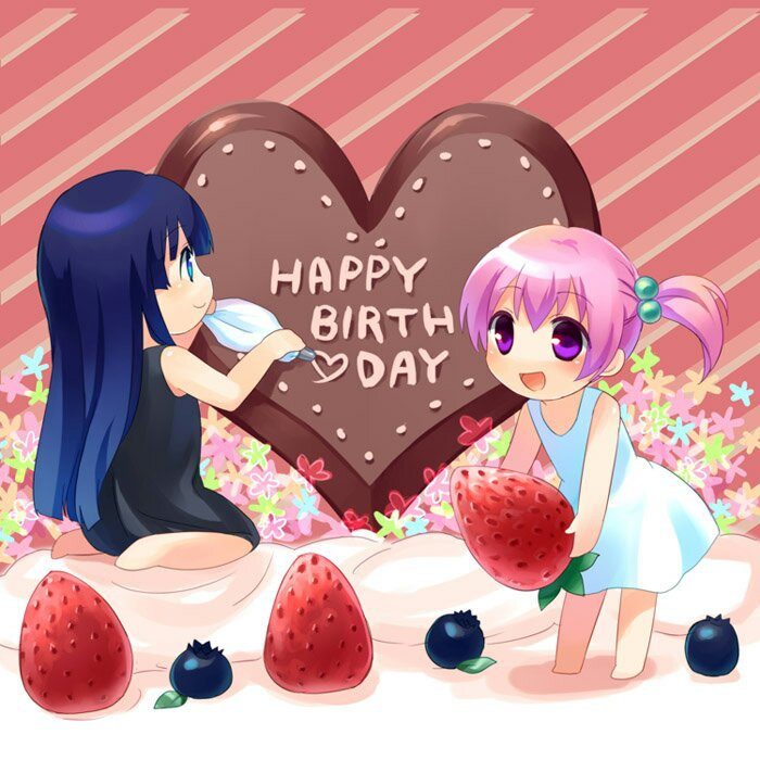 Картинки на день рождения сестры карандашом аниме
