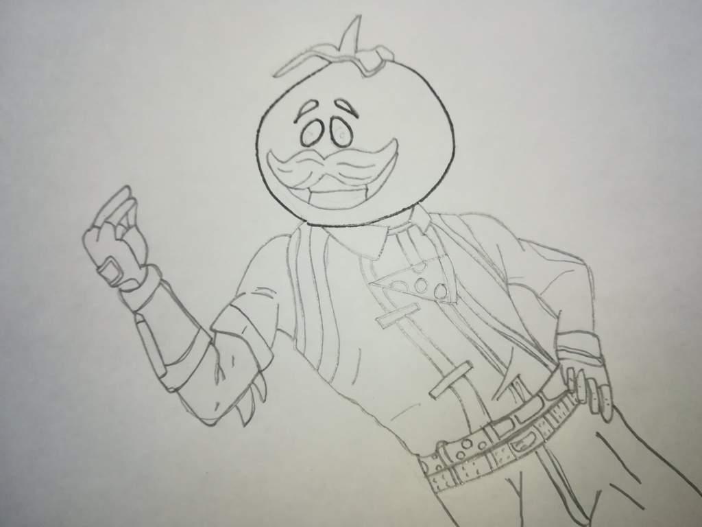 Dibujo A Cabeza De Tomate Fortnite Español Amino