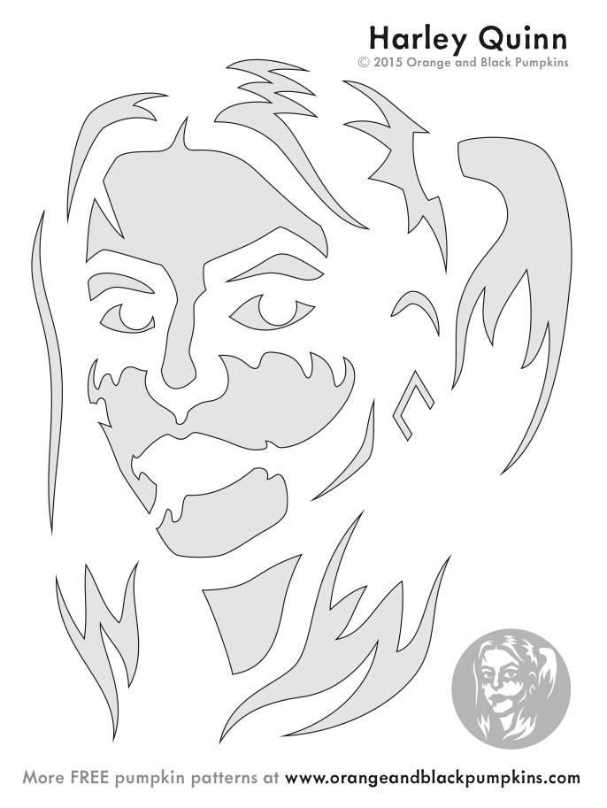 harley quinn pumpkin stencil  👻 Pumpkin Template 👻 | Harley Quinn Amino