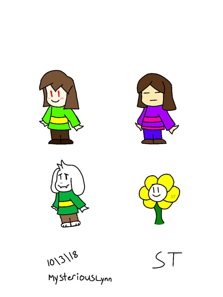 Short and easy drawings of some Undertale Characters | Undertale Amino