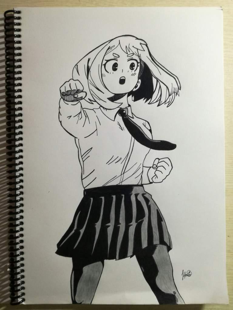 My Drawing Of Ochaco Uraraka Straight Out Of The Manga