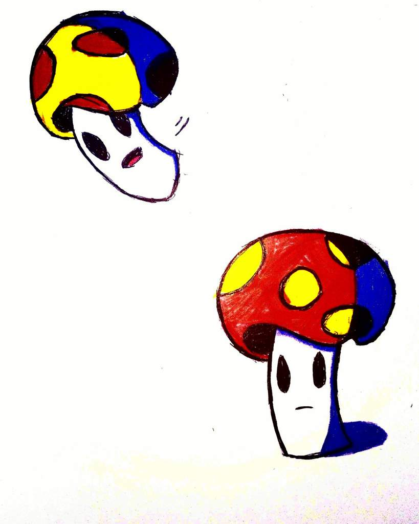 So I Was Inspired By Mario To Draw These Mushroom Dudes