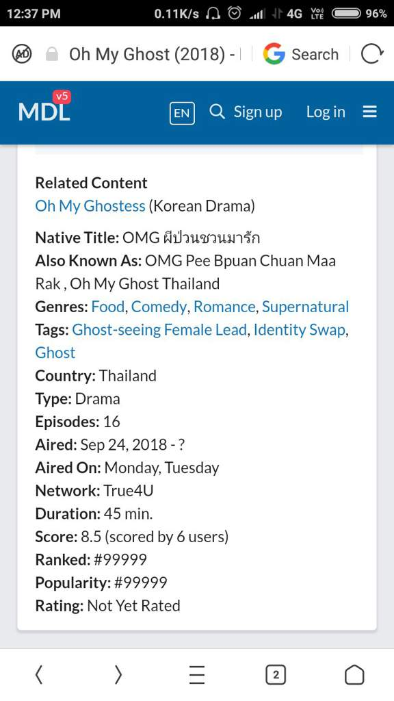 Oh My Ghost Thai Drama