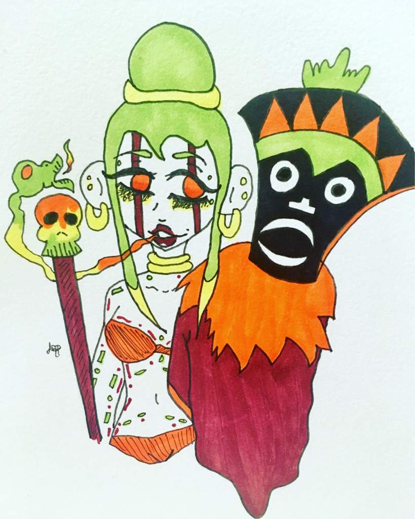 Day 8 Witch Doctor | Doodles And Drawings Amino