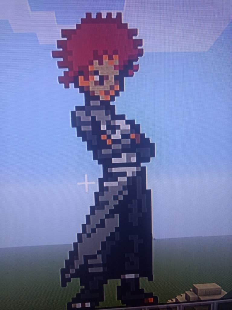 Gaara Pixel Art I Did On Minecraft Naruto Amino