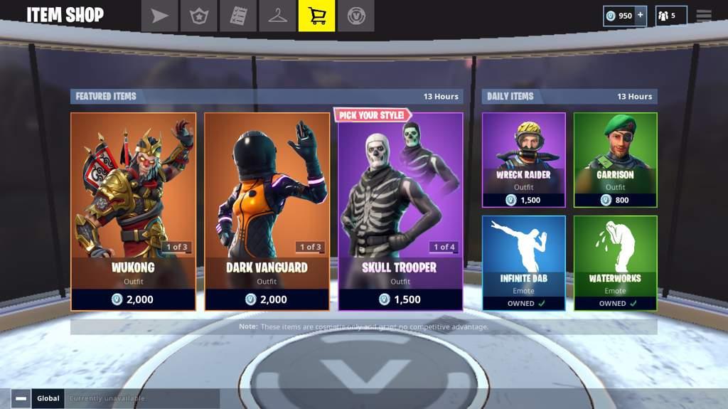 Skull Trooper In The Item Shop Right Now Fortnite Battle Royale