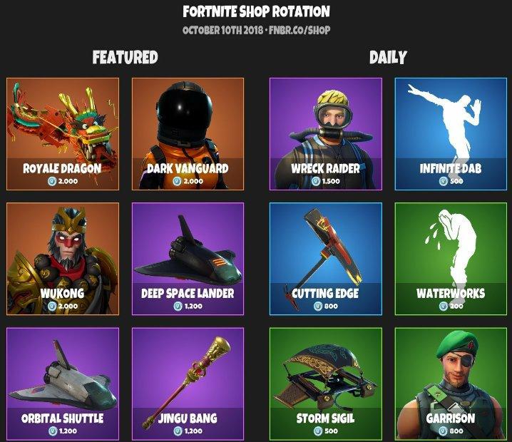 daily item shop 2 - fortnite item shop october 31