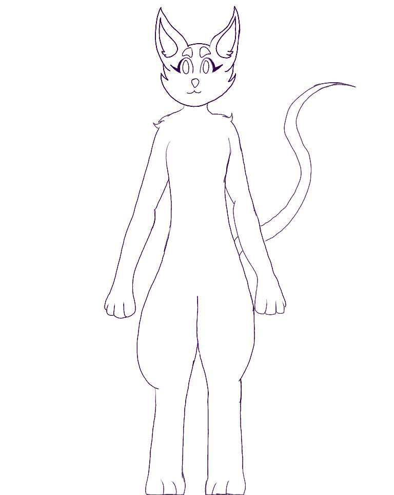 Anthro Cat Base Furry Amino