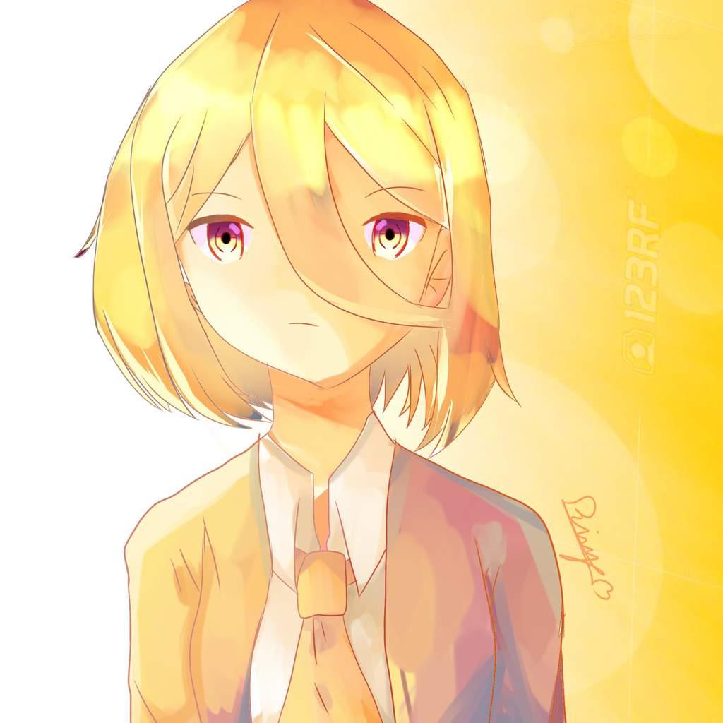 Blonde Hair Shading Text Anime Art Amino