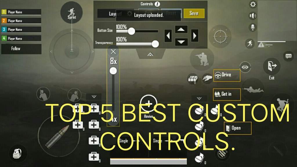 Top 3 Best Custom Controls In Pubg Mobile Pubg Mobile Amino
