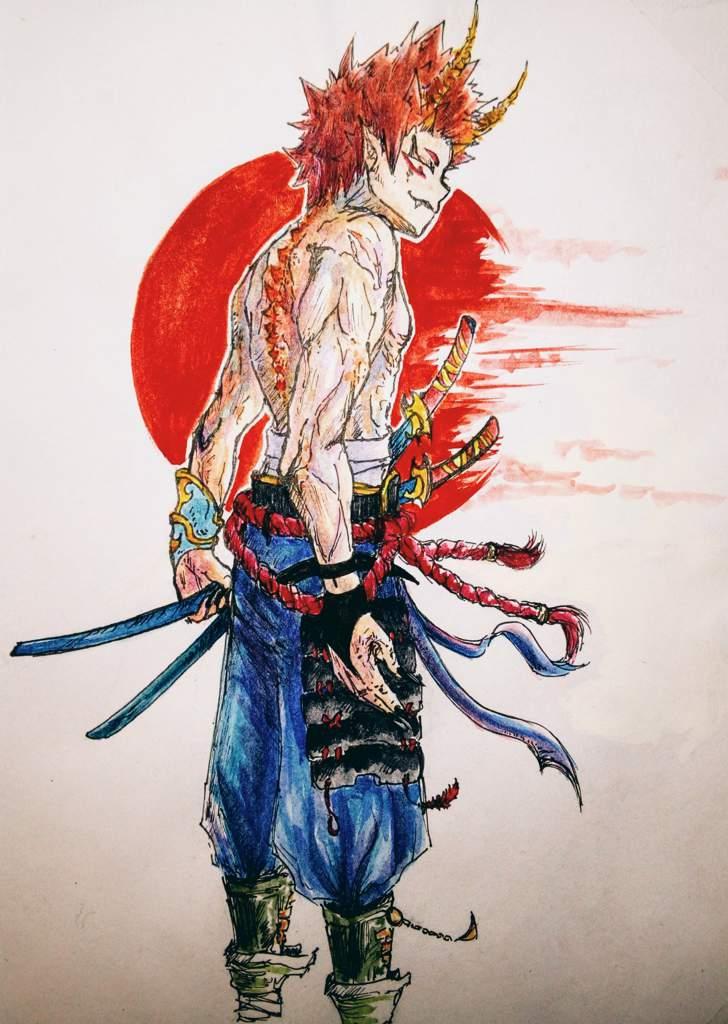 Oni Samurai Kirishima My Hero Academia Amino
