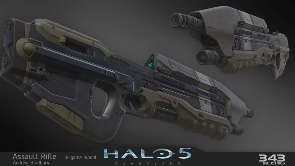 Halo 5 Assault Rifle (Custom Paint 01)   Halo Amino