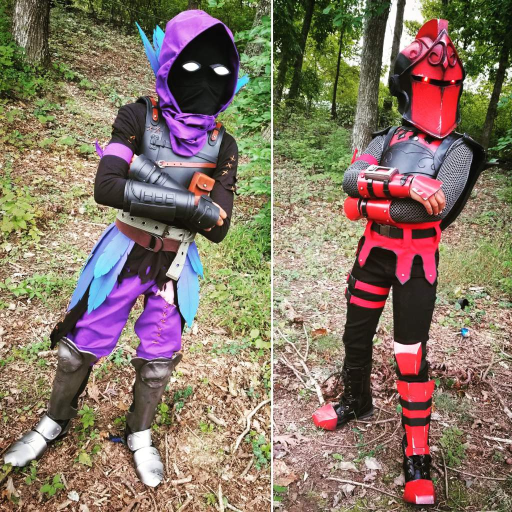 Red Knight And Raven Halloween Costumes Done Fortnite Battle