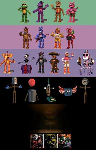 Image: FNaF 6 - All animatronics (2) by LUVUS-7 on