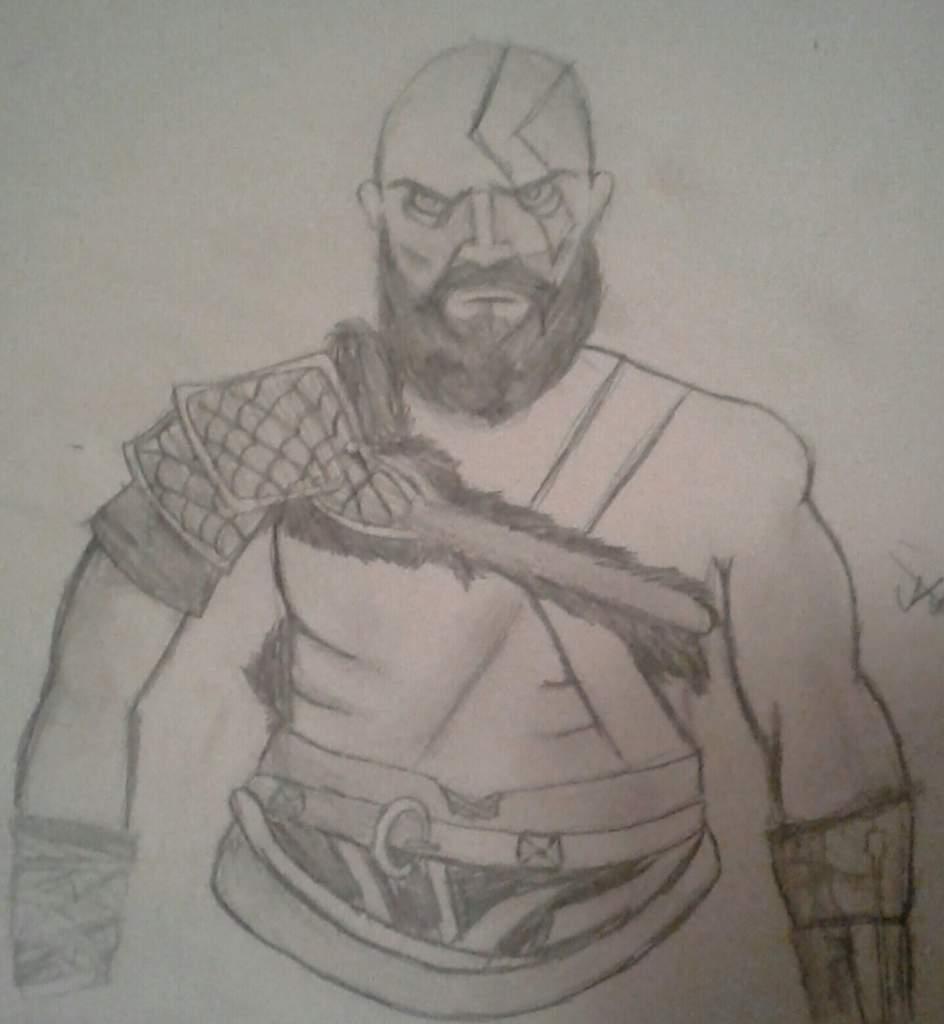 Kratos Drawing God Of War Amino