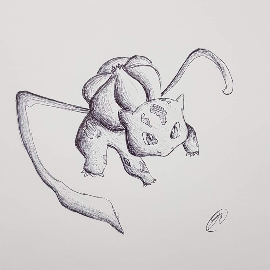 Bulbasaur Ballpoint Pen Pokemon Art Drawing Amino Amino