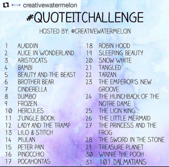 Disney Quote Challenge Day 31 Disney Amino