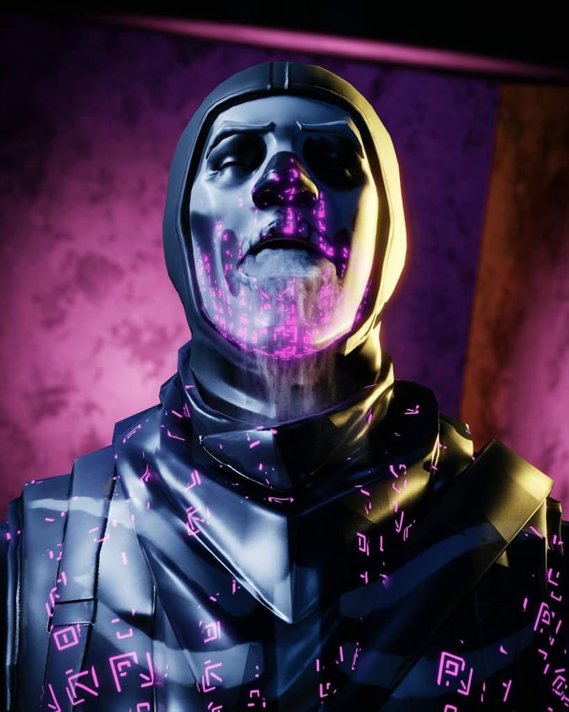 i made this dark skull trooper in an program called blender and got the model for the skull trooper in umodel - fortnite blender