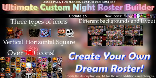 ucn roster builder update 15 10 icons five nights at freddy s