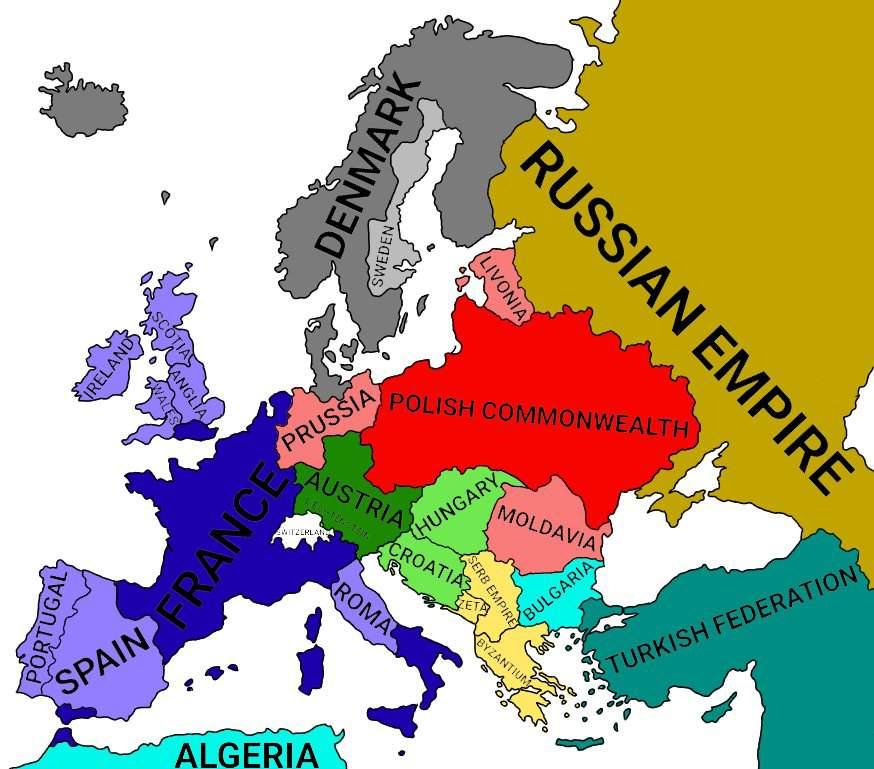 Polandball Map Of The World 2017.Alternate World Map Of Europe Mapping Polandball Amino Amino