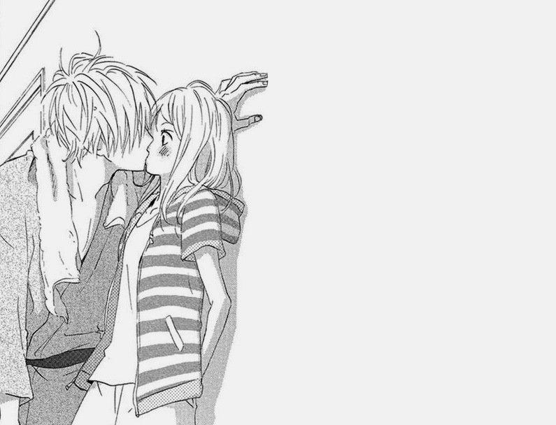 Любовь аниме черно-белые картинки