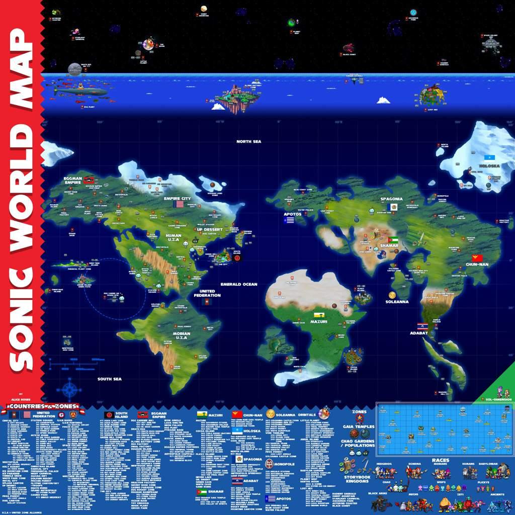 Sonic World Map | Sonic the Hedgehog! Amino