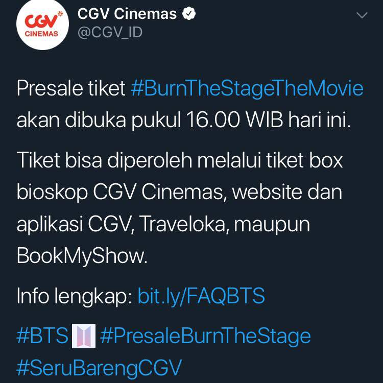 Update Cara Lengkap Pembelian Tiket Burn The Stage Bts Army