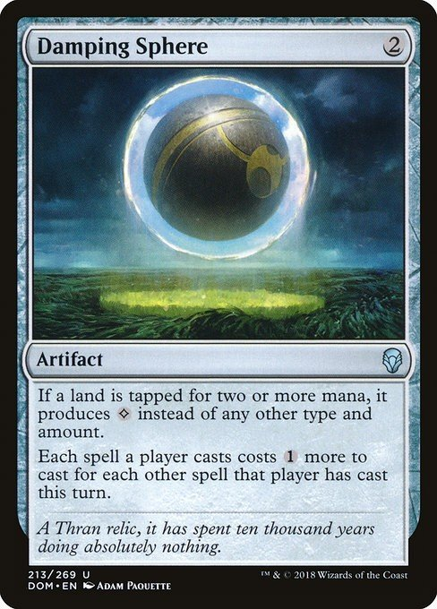 How Does Damping Sphere Affect Omniscience? | MTG Amino