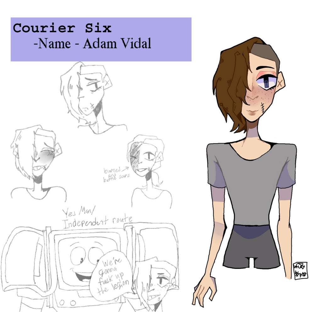 Courier 6 doodles and WIP | Fallout Amino