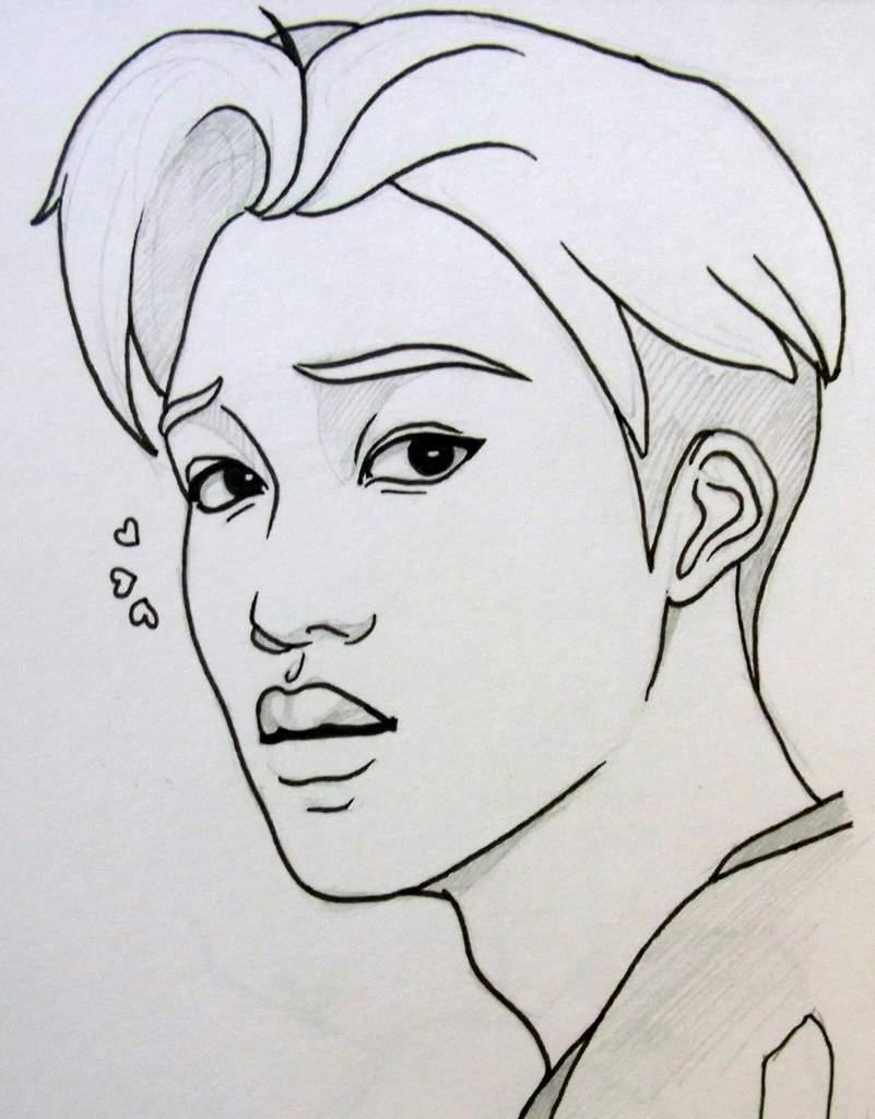 Картинки с корейцами для срисовки