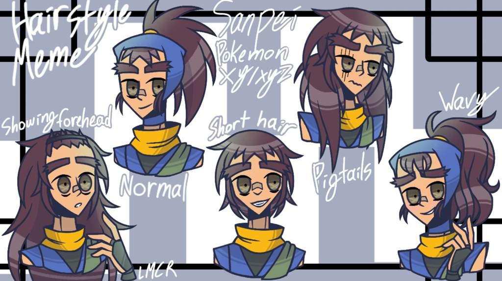 Hairstyle Meme Sanpei Pokmon Xyxyz Pokemon Artdrawing Amino