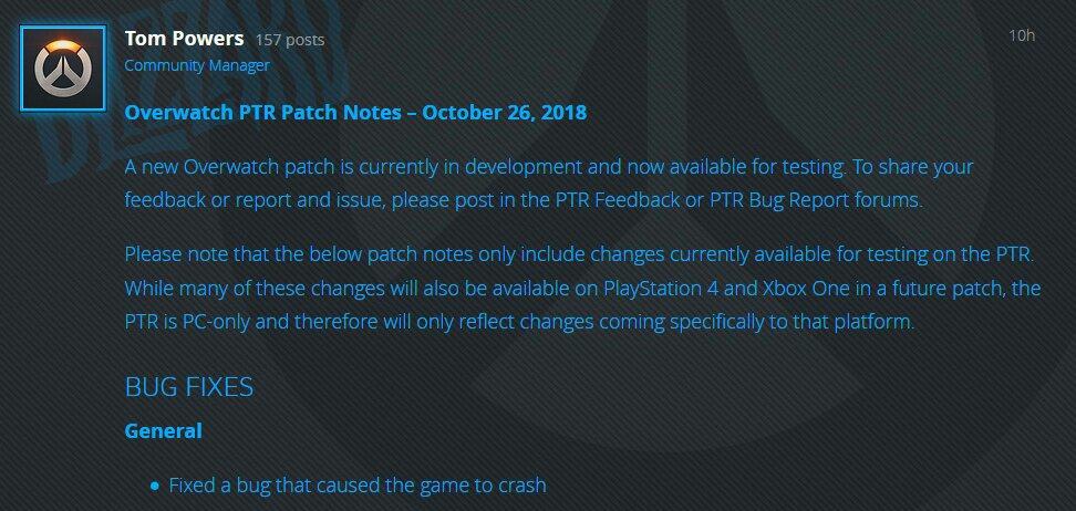overwatch patch notes october 12 2018