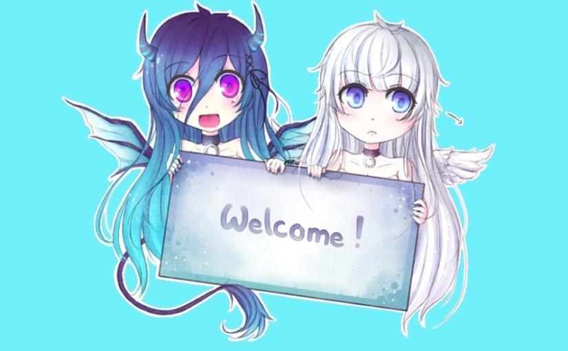 Новый, аниме картинки с надписями добро пожаловать
