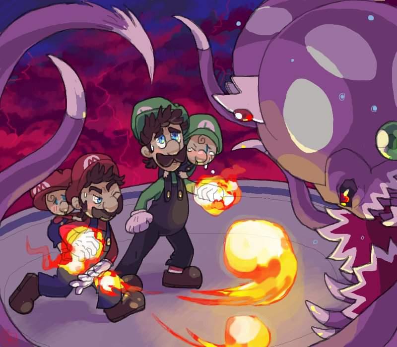 Le Point Creepy Nintendo Mario Et Luigi Frere Du Temps