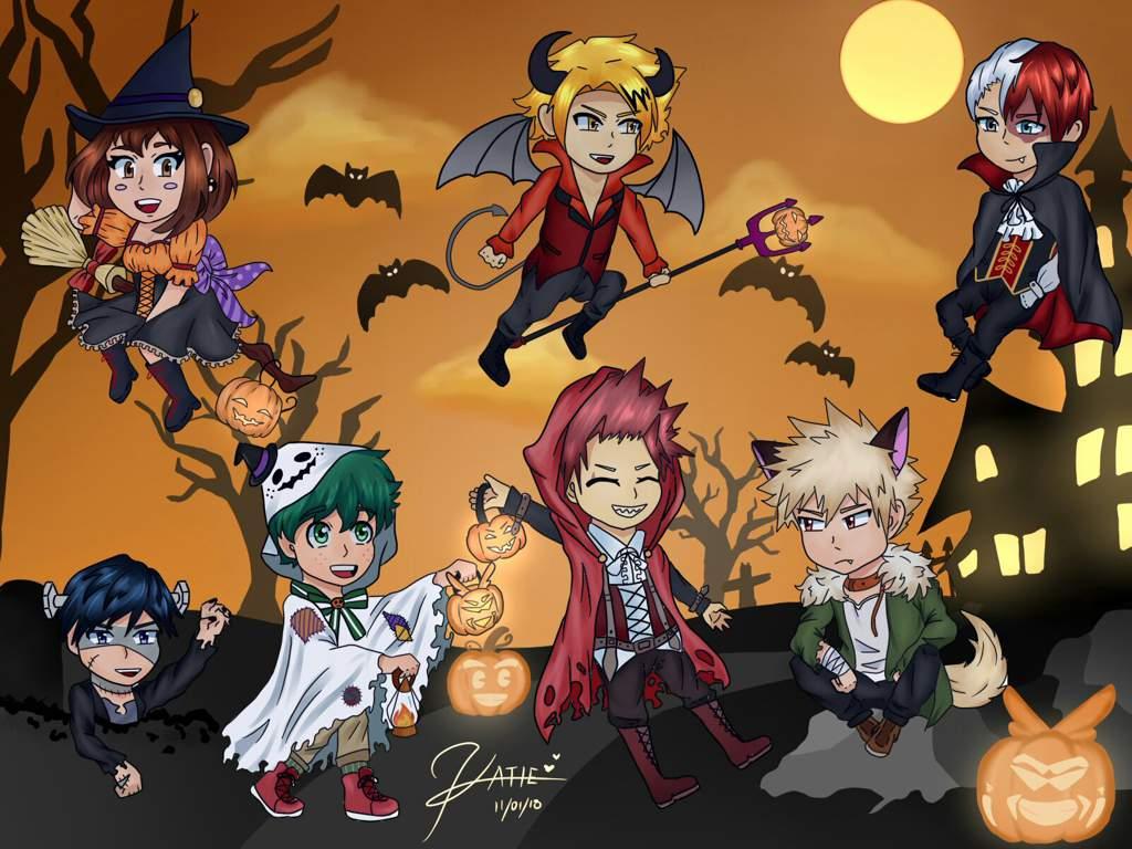 Chibi Halloween My Hero Academia Amino