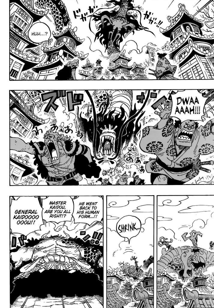 One piece chapter 923: Luffy Vs. Kaido analysis | One ...