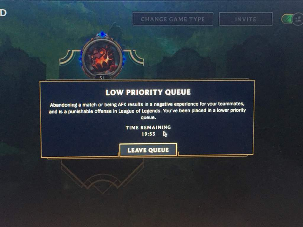 what is low priority queue league of legends