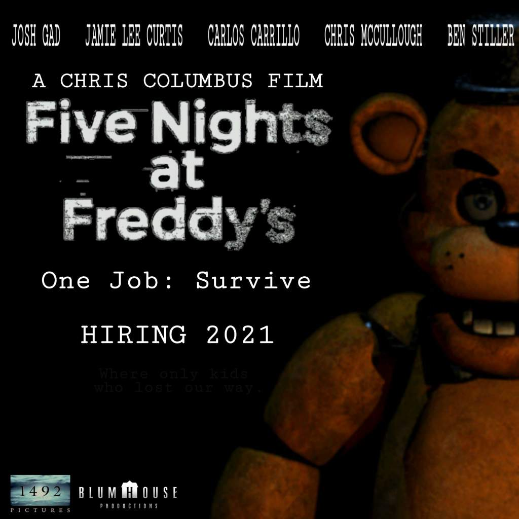 My new fan made FNaF movie poster  | Five Nights At Candy's™ Amino