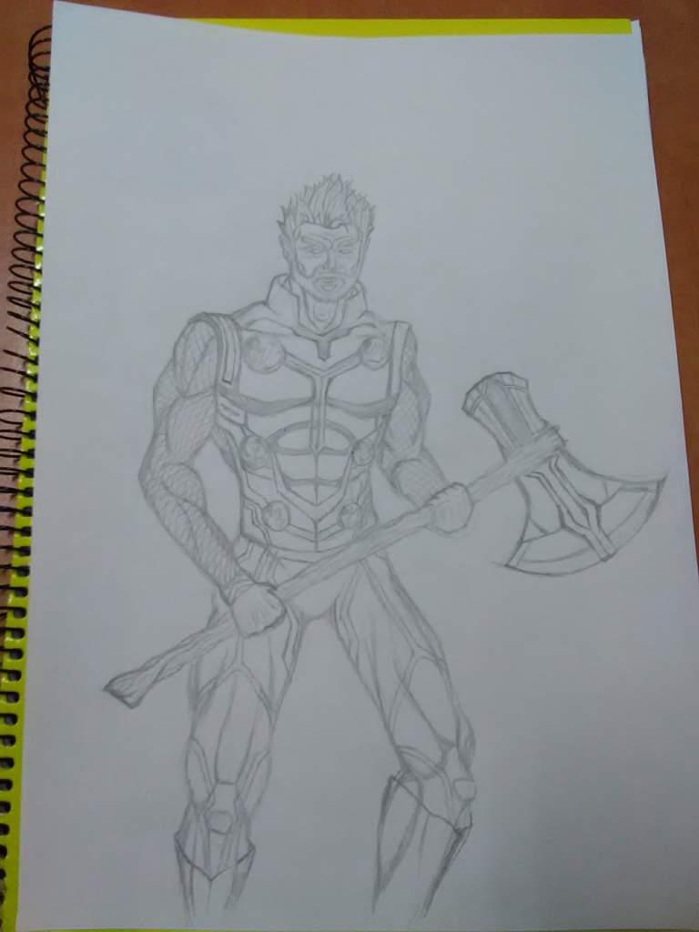 Dibujo De Thor Con Stormbreaker Marvel Dc Amino