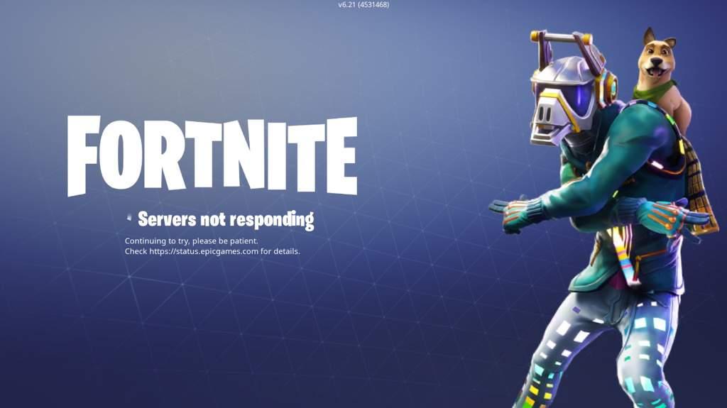 - why is fortnite not responding