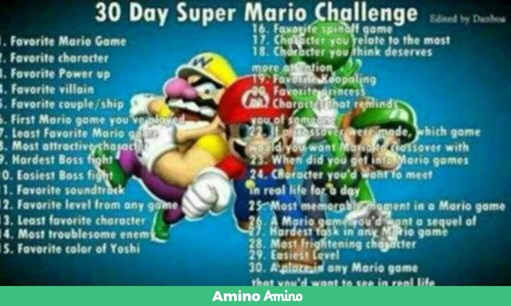 Super mario 30 day Challenge day 11 | Mario Amino