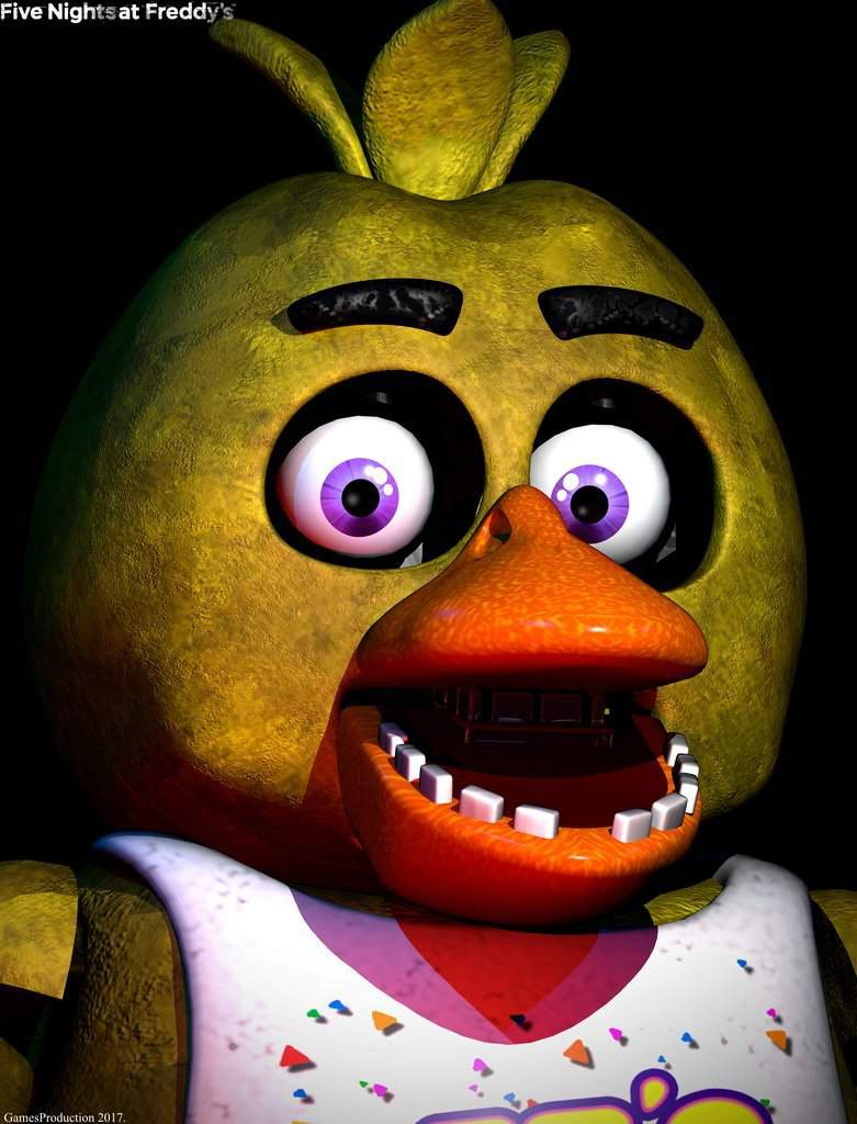 5 Nights At Freddy's Chica what are the real names of freddy, foxy, chica, bonnie, and