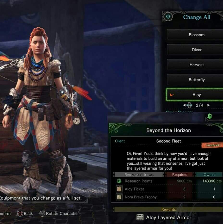 PS4 Exclusive] Aloy Gamma Set | Monster Hunter Amino