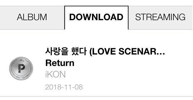 Love Scenario receives Platinum for Downloads on Gaon | iKON