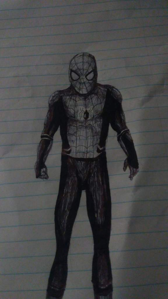 Spider Man Far From Home Suit Sketch Webslinger Amino Amino